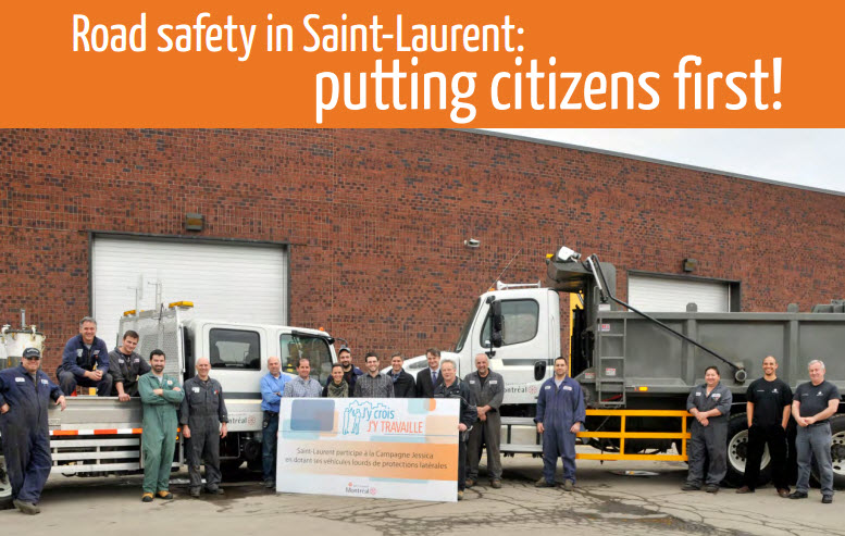 Jessica Project – Lateral protection devices on the Saint-Laurent fleet of heavy vehicles